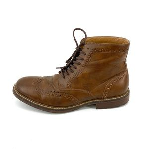 Goodfellow Brown Ankle Boots 9.5 Faux Leather Mens